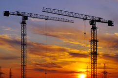 Building crane Royalty Free Stock Photo