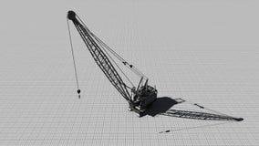 Building crane on a gray background1 Stock Photos