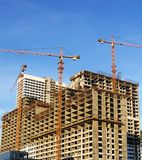 Building crane and new house Royalty Free Stock Image