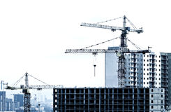 Building and Crane Royalty Free Stock Photo