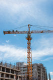 Building and crane Royalty Free Stock Photography