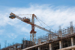 Building and crane Stock Image