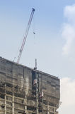 Building and crane under construction Royalty Free Stock Photos