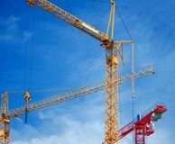 Building cranes Royalty Free Stock Photography