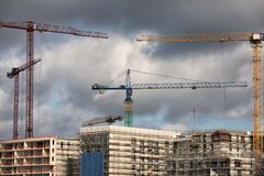 Building_cranes Royalty-vrije Stock Fotografie