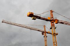 Building cranes Royalty Free Stock Image