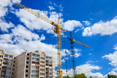 Building cranes Stock Photos