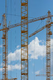 Building with Cranes Stock Image