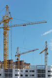 Building with Cranes Stock Photos
