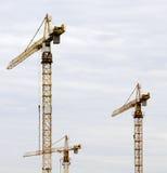 Building cranes Stock Images
