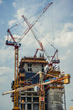 Building cranes in Tel Aviv Royalty Free Stock Images