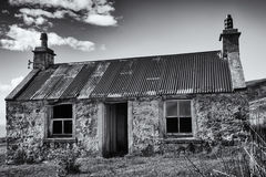 Building, Croft House, Corrugated iron roof, Abandoned, Royalty Free Stock Photos