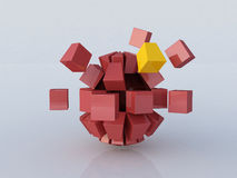 Building cubes Stock Photography
