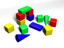 Building cubes for children Stock Image