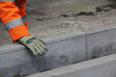 Building curbs and sidewalks Royalty Free Stock Photo