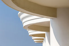 Building Curve Terrace. Outdoor Building with Curve Terrace royalty free stock photos