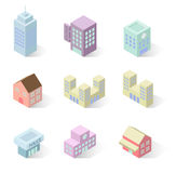 Building 3d isometric Stock Images