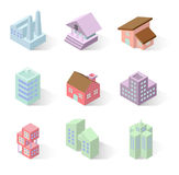 Building 3d isometric Royalty Free Stock Photography
