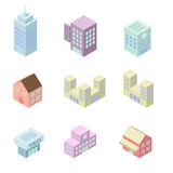 Building 3d isometric Royalty Free Stock Photo