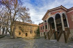 The building of Danov School from nineteenth century, Perushtitsa, Plovdiv Region, Bulg Royalty Free Stock Photography