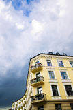 Building and dark sky Stock Images