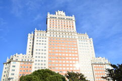 building de espana plaza στοκ εικόνες