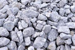 Building debris - the broken stones of the destroyed building Stock Photography