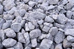 Building debris - the broken stones of the destroyed building Stock Photo