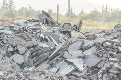 Building debris demolition Royalty Free Stock Photography
