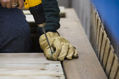 Building a deck Stock Photography