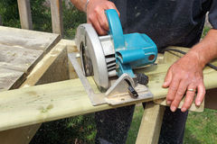 Building the deck Stock Image