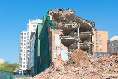Building deconstruction Royalty Free Stock Image