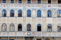 Building decorated with frescoes Royalty Free Stock Photos