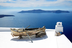 Building decoration on Santorini island Stock Photography