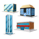Building decorative set Royalty Free Stock Photo