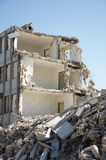 Building demolished. With lots of debris Royalty Free Stock Image