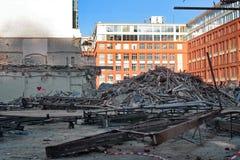 Building demolished - Prague, Czech Republic Stock Photography