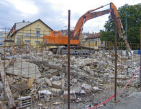 Building Demolition Stock Image