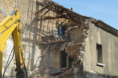 Building demolition in Chatellerault (France) Royalty Free Stock Images