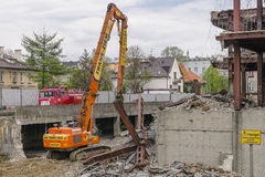 Building demolition Royalty Free Stock Images