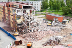 Building demolition for new construction Stock Photos
