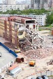 Building demolition for new modern house Stock Photography