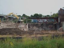 Building Demolition Site Royalty Free Stock Images