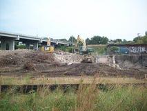 Building Demolition Site Stock Images