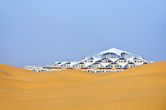 Building in the desert Stock Photo