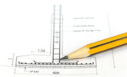 Building design with pencil Royalty Free Stock Images