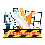 Building design and planning Stock Photo