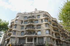 Building designed by Gaudi in Barcelona, Spain Royalty Free Stock Photography