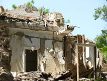 Building destroyed Stock Image