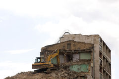 Building destruction Royalty Free Stock Photo